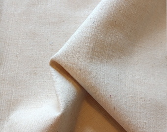 Long skinny linen fabric remnant from the 1970s