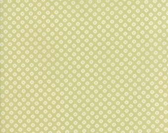 Pepper and Flax - Lacy Polka Dot in Sprig Green: sku 29045-27 cotton quilting fabric by Corey Yoder for Moda Fabrics