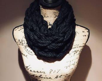Arm Knit Chunky Scarf
