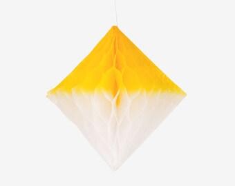 Honeycomb diamond - white and yellow