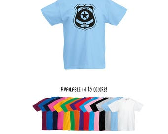Police shirt, kids police shirt, officer shirt, police badge, personalized shirt, custom name shirt, name shirt, kids shirt, toddler tee