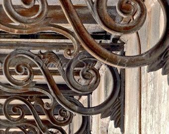 """Architecture Photography, Rustic Savannah Art, Abstract Brown Print, Noble Hardee Mansion, Decor Elements, Old Corbels, Scroll- """"Details"""""""
