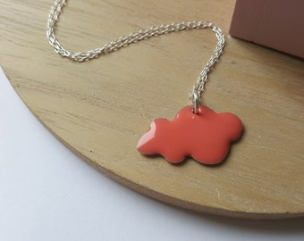 Coral cloud necklace