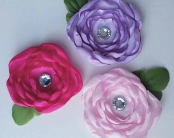 Trio Flower Hairclip Set