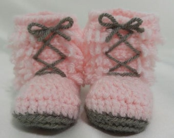Pink Fringed Booties