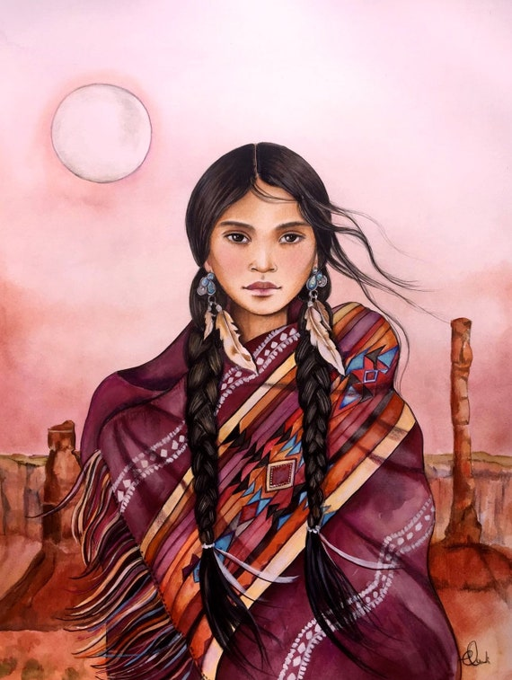 Navajo inspired woman