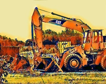 Construction Truck Print, Transportation Photo, Truck Prints, Construction Vehicle, Boys Room Decor, Baby Boy Nursery Decor, Truck Photo