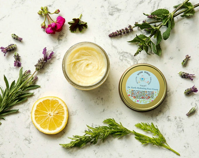 Organic Face Cream |  Face Cream with SPF and Essential Oils | For Dry Skin, Sensitive Skin, and Damaged Skin | Anti Aging Face Cream | 4 oz