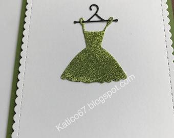 Glitter green dress