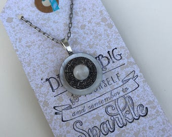 Trio of Vintage Buttons Necklace Upcycled to One-of-a-Kind Piece