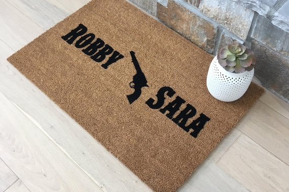 Texas Decor - Wedding Gifts - Gifts for Couples - Personalized Doormat - Redneck Wedding - Personalized Wedding Gift