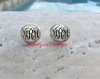 Volleyball Monogram Studs,Volleyball Jewelry,Volleyball Accessories,Personalized Volleyball,Volleyball Earrings,Gifts for Her,Gifts under 10