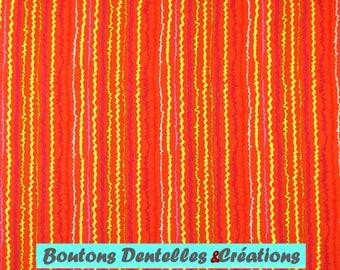 Moda fabric - Orange - colored stripes