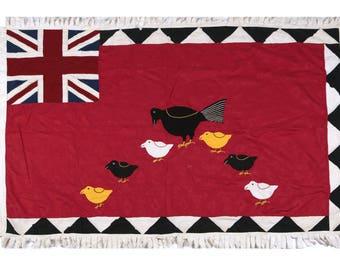 Asafo Flag - Hen & Its Chicks