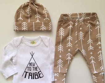 NEW FOR FALL! New to the Tribe/Sandy Arrows/Newborn Outfit/Toddler leggings