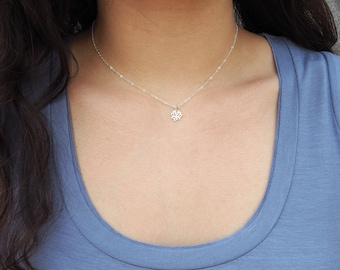Dainty Lotus Necklace, Yoga Necklace, Sterling Silver Lotus Necklace, Gold Lotus Necklace, Rose Gold Lotus Necklace