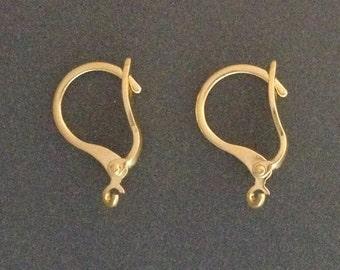 30pcs Gold filled leverback earrings - gold leverback earrings - gold fill leverback earrings - 25%discount price bulk quantity earrings