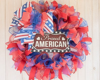 Proud American wreath