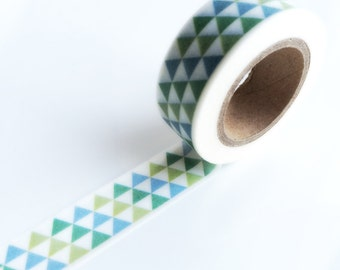 Geometric ombre mountains washi tape