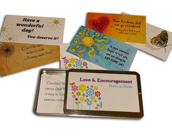 KINDNESS! Love and Encouragement Notes Purse Pack with metal slider case