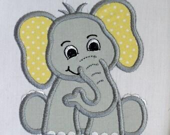 Yellow Elephant Patch, Elephant Applique, Embroidered Elephant, Iron On Patch, Applique Patch, Embroidered Elephant Patch, Baby Elephant