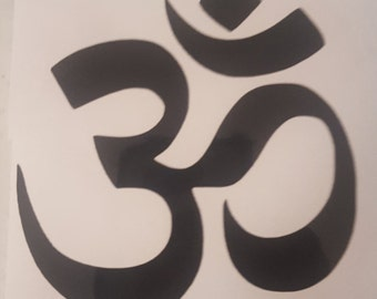 OM vinyl sticker decal Hinduism Buddhism Choose Size Color