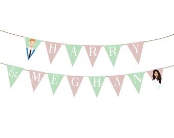 Printable Harry and Meghan Royal Wedding bunting flags