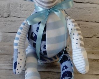 Memory Keepsake Monkey - Baby Clothes, School Uniform, Sports Kit, Christening Gift, cherished clothing, monkey keepsake, memory monkey