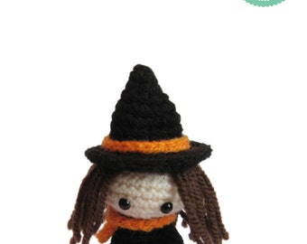 Easy Amigurumi Pattern - Witch Doll, Crochet Pattern, Pumpkin pattern, Halloween Doll