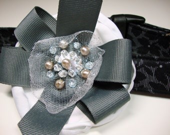 Fifty Shades of Gray Dog Collars Large