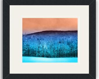 Beautiful Blizzard - Framed Art Print / psychedelic landscape