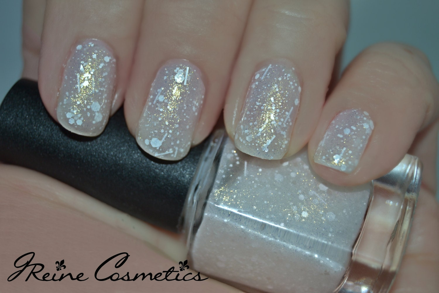 Let It Snow - Frosted White Glitter Nail Polish LIMITED EDITION from ...