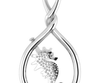 SEAHORSE necklace Jewellery BY www.my-wishbone.com, available in silver