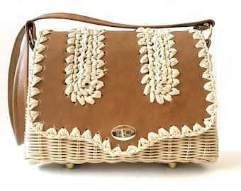 Straw Handbag, Raffia Purse, Raffia Bag, Woven Handbag, Woven Purse