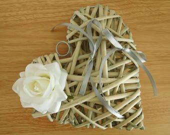 Ring bearer wedding rattan heart