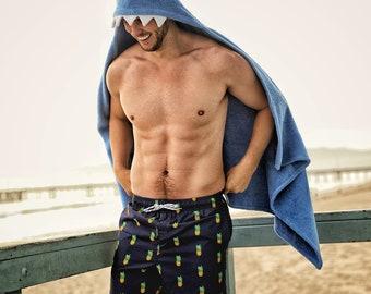 ADULT Shark hooded towel