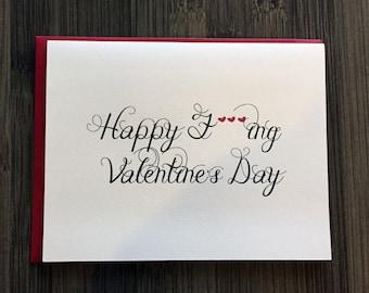 Happy F***ing Valentine's Day Card