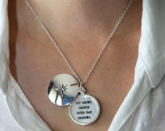Your Image Here Silver Plated Charm Locket Necklace, Custom Pendant Locket Necklace, Personalized Pendant Charm Necklace Modern Locket
