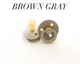 Bibs pacifie dummies- brown gray