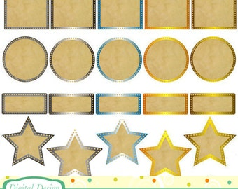Metal and paper Frames, 20 designs. INSTANT DOWNLOAD For Personal and commercial use.