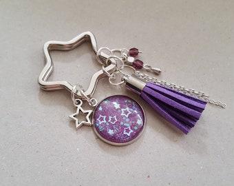 Purple Star keychain