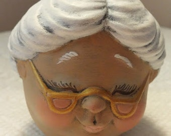 "Mrs. Santa Ceramic ""Eggs-Pression"""
