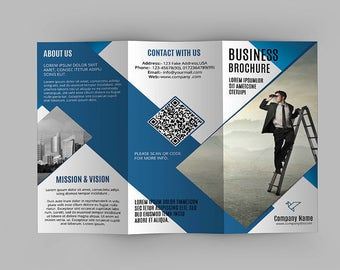 Trifold Corporate Brochure Template | Business Brochure | Photoshop Template | Instant Download