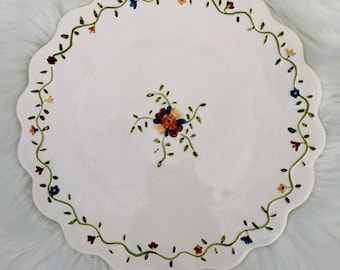 Bird in Hand Sigma, by Andrea West, hand painted, Cake Plate, Dinner Plate,