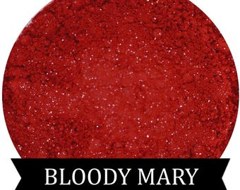 BLOODY MARY Matte Red Eyeshadow with Glitter
