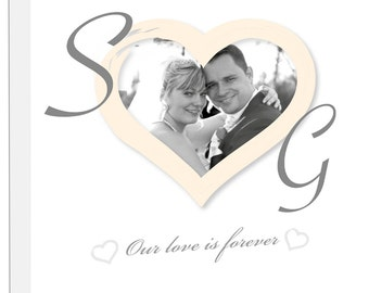 Personalised wedding anniversary canvas gift