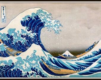 Great Wave Off Kanagawa Giclee Art Print - Japanese Wall Art - Japanese Block Art Print - Vintage Japan Wave