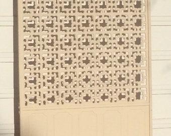 Screen Room Divider lattice 1950's retro Painted wood