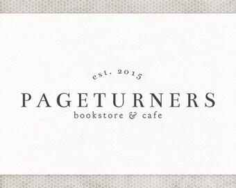 Premade Logo Design | Photography Logo | Vintage Logo | Bookstore Logo | Minimalist Design | Premade Blog Header | Coffeeshop Logo
