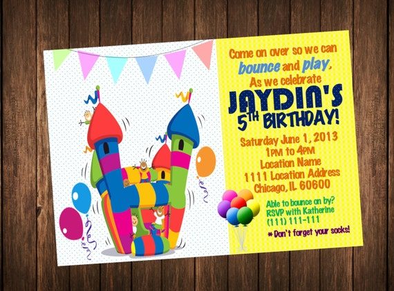 Bounce house invitation bounce house birthday invitations bounce house invitation bounce house birthday invitations kids outdoor indoor playground party printable invite filmwisefo Gallery